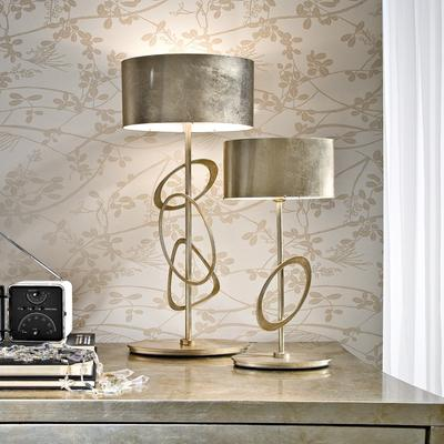 Table lamps deep purple and blue these round statement lamps aloadofball Image collections