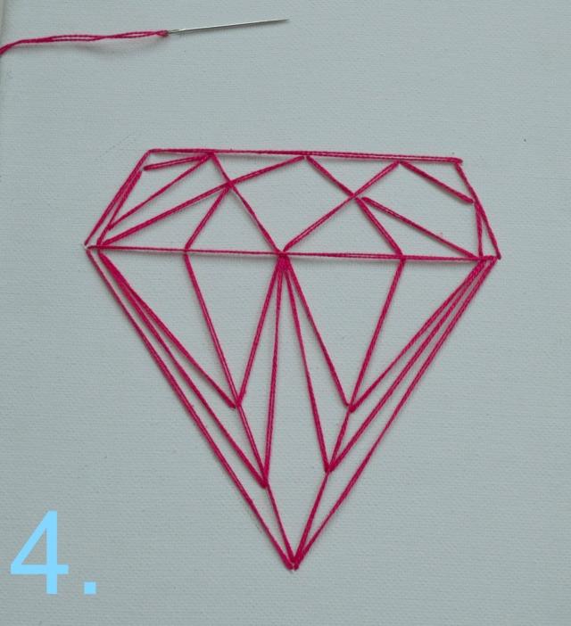 easy DIY diamond string art 7