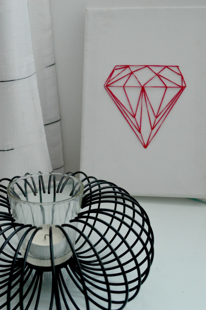 easy DIY diamond string art 9