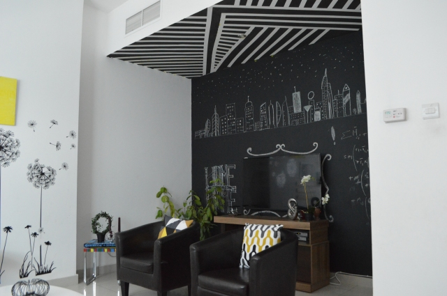 black and white striped ceiling 18