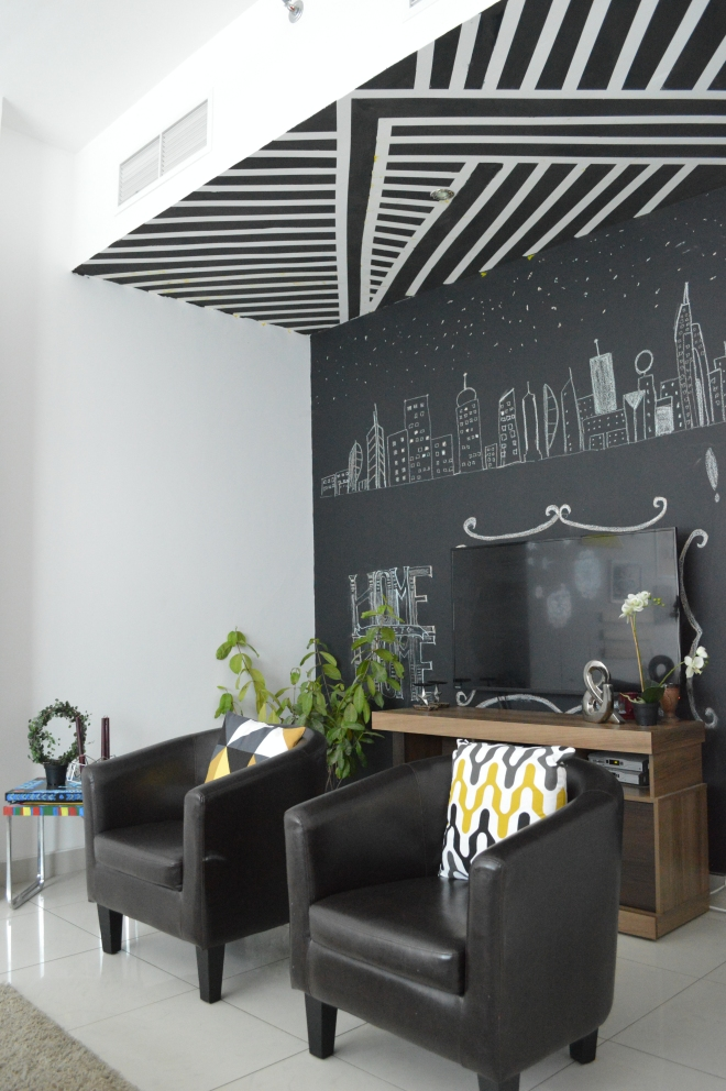 black and white striped ceiling 19