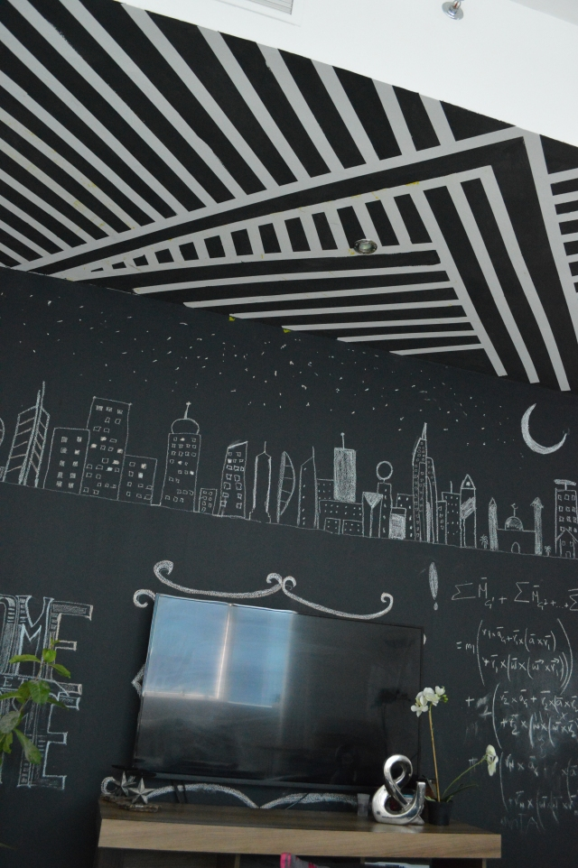black and white striped ceiling 7