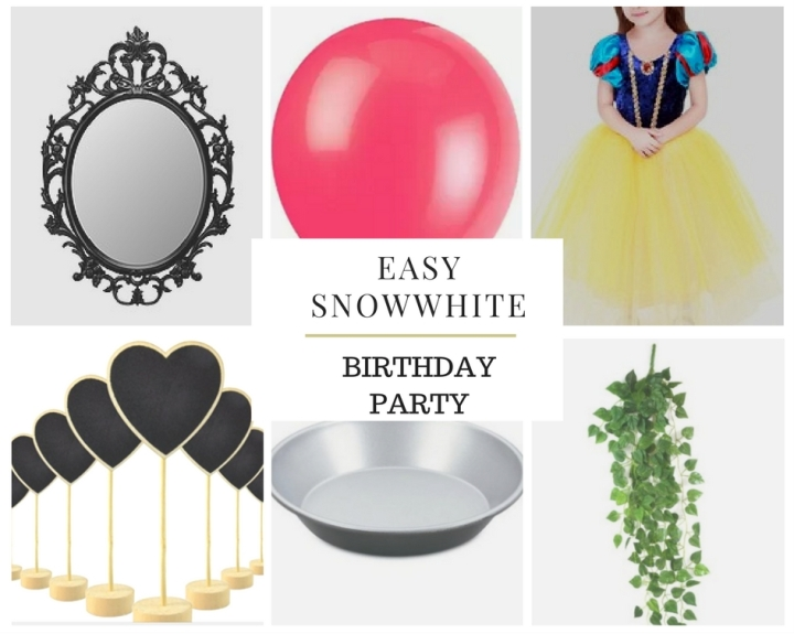 Easy snow white birthday party