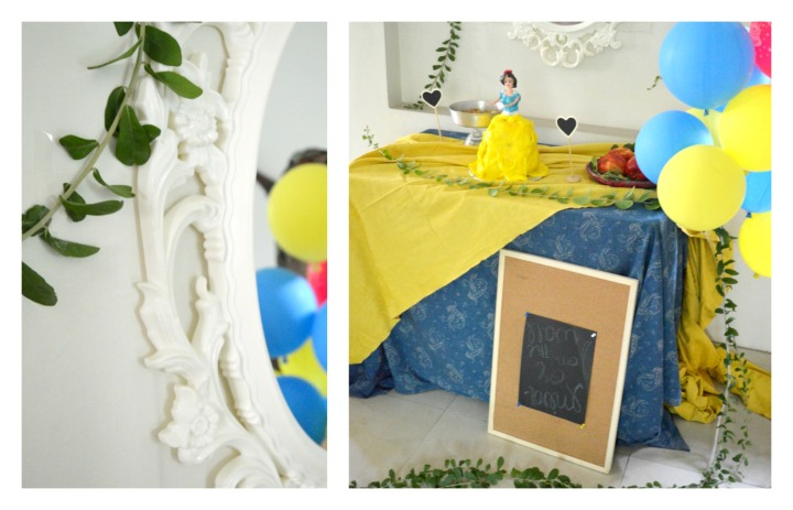 snow white birthday party collage