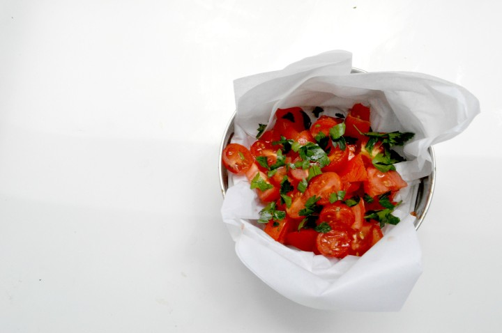 Simple Tomato and herb salad